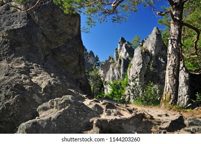 Nature in Slovakia rocks of Sulov