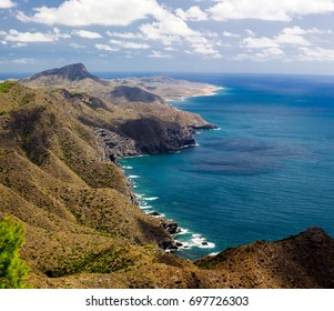 The nature of Spain, the Mediterranean sea and the mountains Costa Calida
