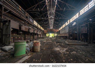 Nature Taking Over inside an abandoned and radioactive steel ill