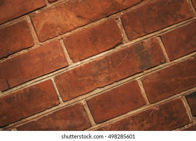 Nature Texture. Red brick or stone wall