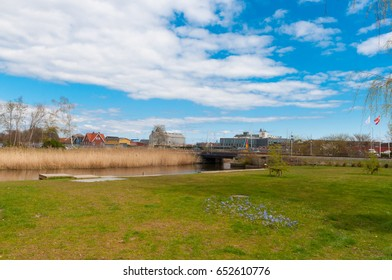 nature in town of Koge in Denmark
