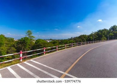 nature trails blue sky background with white clouds