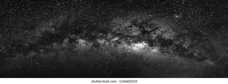 Nature view of milky way galaxy with star in universe space at night. Astronomy nebular and outerspace shot photography.