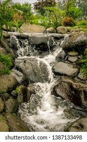 The Nature of Waterfall at Dusun Bambu, Bandung, Indonesia