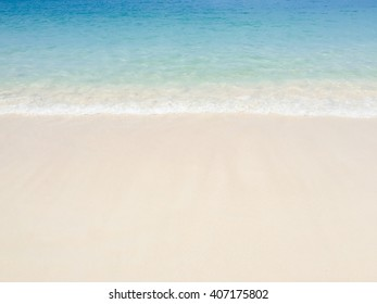 Nature Wave of the sea on the sand beach background