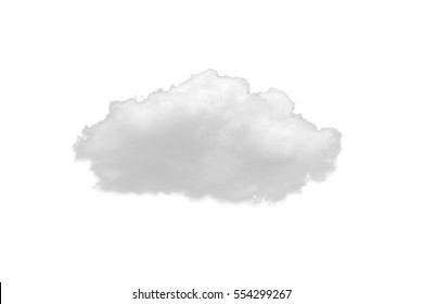 Nature white clouds isolate on white background. Cutout clouds element design for multi purpose use.