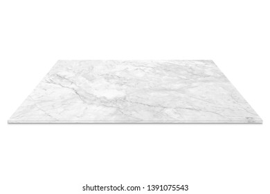 nature white marble counter isolated on white background
