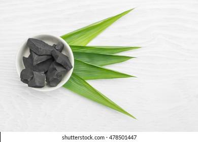 Nature wood charcoal.