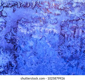 Natures colorful abstract art-Frost and ice-nature photography