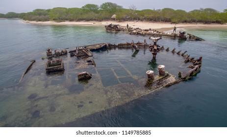 Naufragios de Isla Larga, Pto Cabello Venezuela