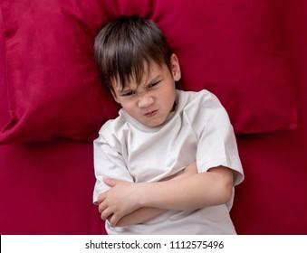 Naughty little boy won't go to sleep