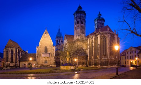 Naumburg Cathedral at the blue hour
