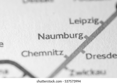 Naumburg, Germany on a geographical map.
