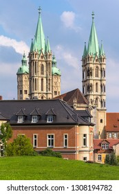 Naumburg is a town in the district Burgenlandkreis, in the state of Saxony-Anhalt, Central Germany. The cathedral is composed of a Romanesque core structure flanked by two Gothic choirs.