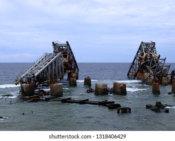 Nauru (3rd smallest country in the world), phosphate loading station
