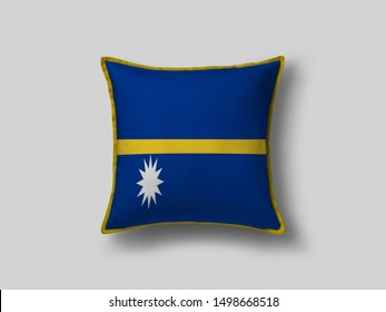 Nauru Flag Pillow & Cusion Cover. Nauru cushion cover. Flag Pillow Cover with Nauru Flag
