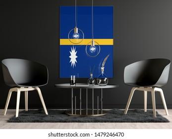 Nauru Flag in Room, Nauru Flag in Photo Frame