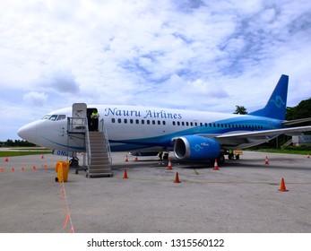Nauru International Airport, Nauru - 18th November 2018, Nauru Airlines airplane