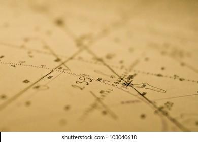 Nautical Chart   close up