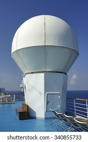 Nautical Communication Antenna in a cruise ship