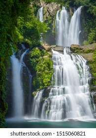 Nauyaca Waterfall near Domicial in Costa rica. in the middle of the jungle