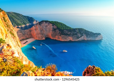 Navagio beach , greece