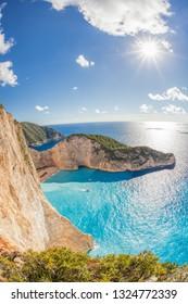 Navagio beach with shipwreck on Zakynthos island, Greece
