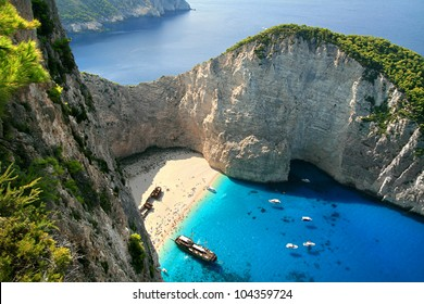 Navagio, shipwreck bay, the island of Zakynthos, Greece