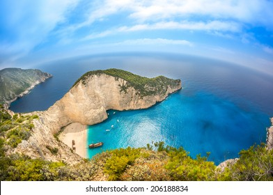 Navagio Shipwreck beach - One of the most famous beach in the world Zakynthos Island, Greece