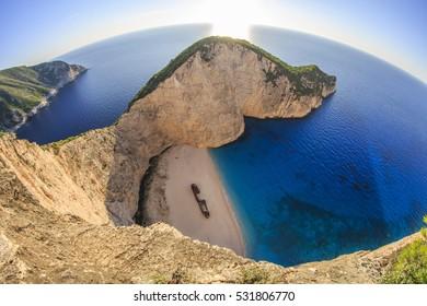 Navagio Shipwreck Beach in Zante Zakynthos Greece