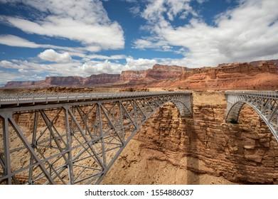 The Navajo Bridge crosses the Colorado River at Lee's Ferry, Arizona