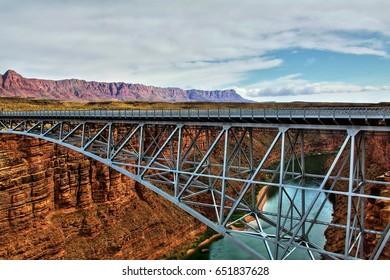 Navajo Bridge at Marble Canyon, Arizona.