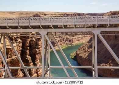 Navajo Bridge over the Colorado River near Marble Canyon and Lee's Ferry in Arizona
