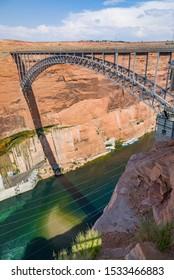 Navajo bridge spans the river colorado near Lees Ferry in Arizona, USA