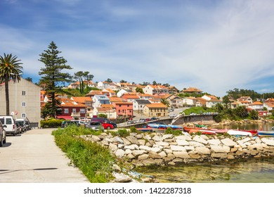 Naval harbor and village in Arousa Island, Galicia, Spain