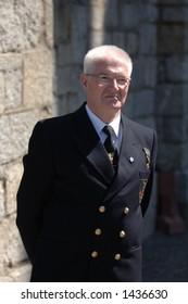 Naval Officer celebrating veteran's day