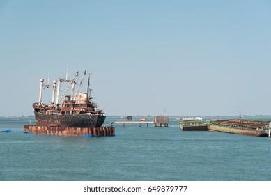 Naval Wreckage in Venice Lagoon