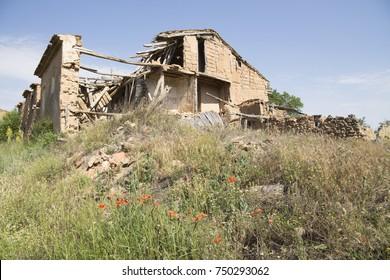 Navapalos is a ruined village in Soria province Castile Leon Spain