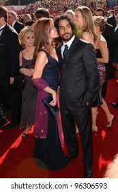 NAVEEN ANDREWS & BARBARA HERSHEY at the 57th Annual Primetime Emmy Awards in Los Angeles. September 18, 2005  Los Angeles, CA.  2005 Paul Smith / Featureflash