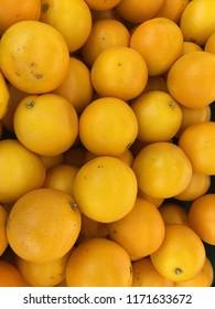 Navel orange in the basket