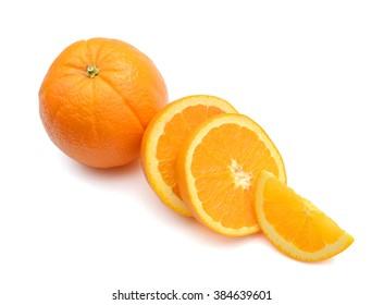 navel orange fruit isolated on white