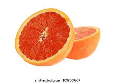 Navel Orange isolated on white with room for text