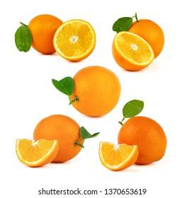 Navel Orange isolated on white background.