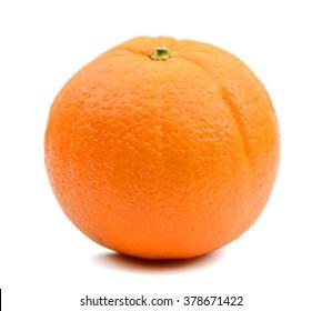 navel orange isolated on white