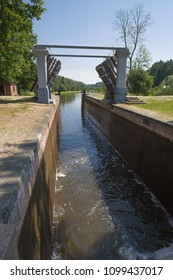 Navigable lock of Dambrouka around Augustow the channel