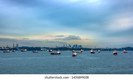 Navigation in the Straits of Singapore is highly congested by merchant traffic, coasters, fishing vessels and local traffic.