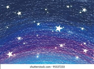 Navy blue background of stars