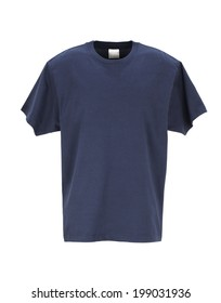 Navy T-Shirt /clipping path
