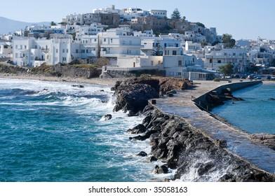 Naxos Chora, Capital City of the greek isle Naxos