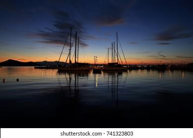 Naxos Harbor in Greece